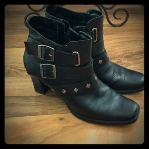 Harley Davidson ankle boots leather
